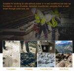 52CC Gas Powered Demolition Jack Hammer 2 Stroke Concrete Floor Breaker Heavy Duty Concrete Breaker