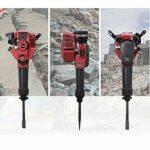 Heavy Duty Concrete Breaker Gas Demolition Jack Hammer Single Cylinder 52CC 2 Stroke 1700W