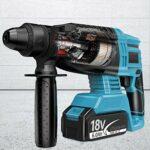 Mootikar Brushless Cordless Rotary Hammer,LANNERET 20V SDS Plus Rotary Hammer Drill