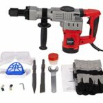 RAYKUNRONG 1280W Electric Demolition Hammer Heavy Duty Concrete Breaker – 3800 RPM Jack Hammer Demolition Drills with Chisel Bit with Carrying Case