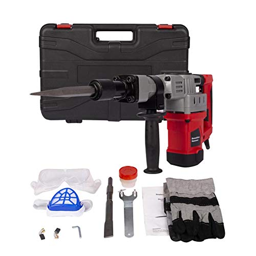US Deluxe 1280w Demolition Electric Jack Hammer Concrete Breaker Trigger Lock with Chisel Bit with Carrying Case