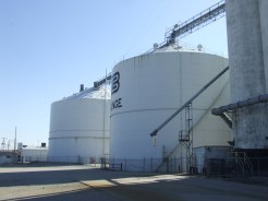 100 ft diameter steel tanks - sheared and recycled