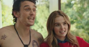 Zoey Deutch and James Franco star as Stephanie and Laird