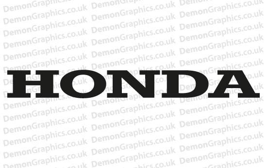 Bike Decal (Pair of) Honda 1 [Bike Decal (Pair of) Honda 1