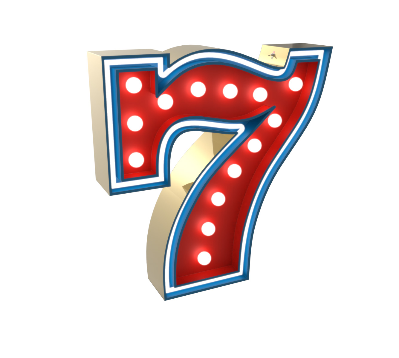 7 Number Graphic Lamp By Delightfull