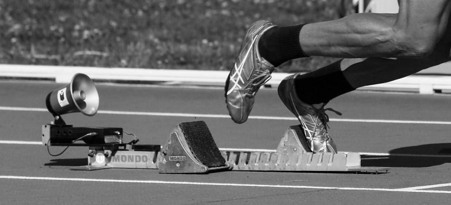 athlete on the run