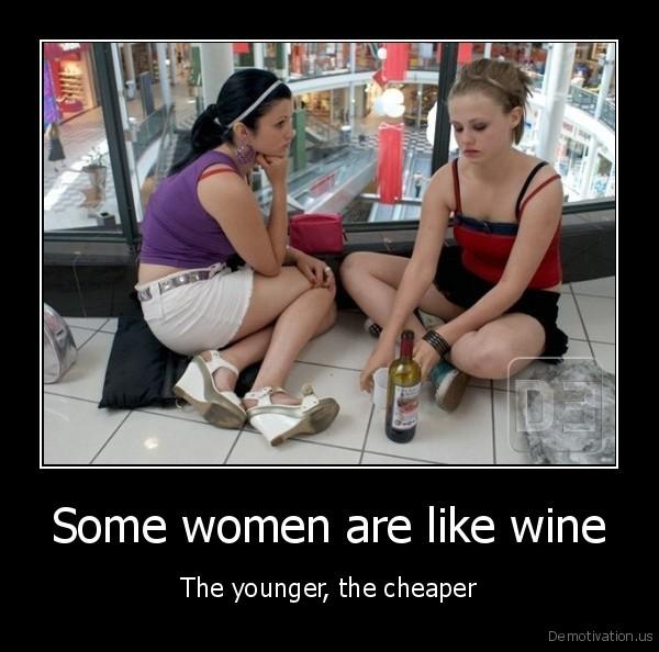 women cheap wine