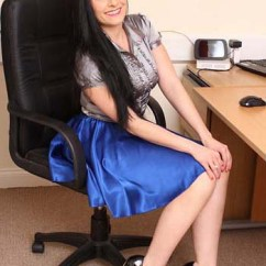 Woman Sitting In Chair Amazon Silver Covers Demure Fun