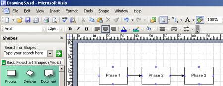 Create a simple flowchart