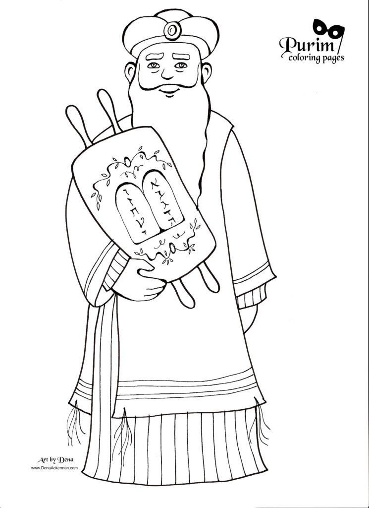 Purim Coloring Pages!