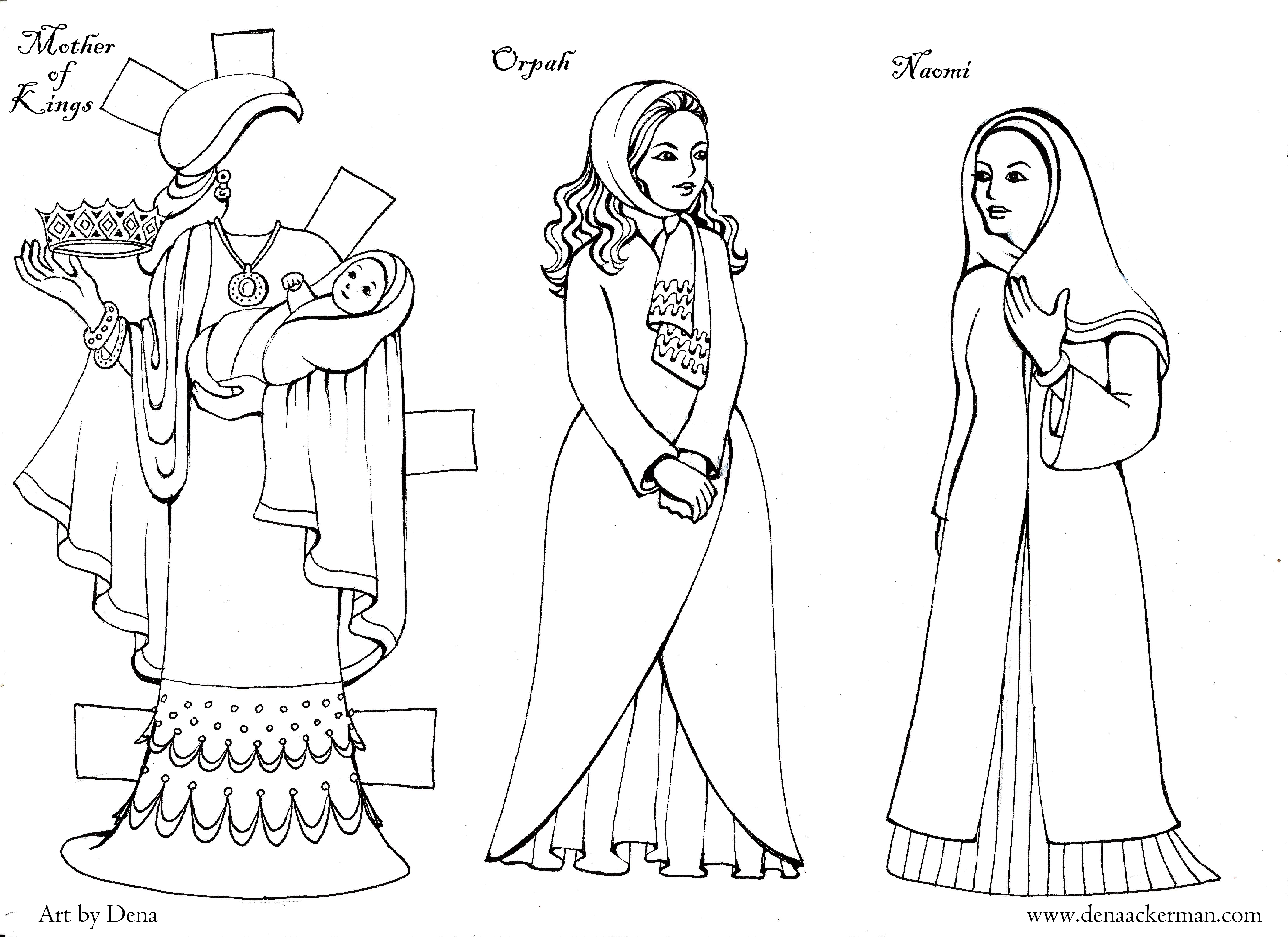 Ruth Paper Dolls for Shavuot!