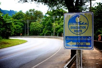 The ever reminding presence of tsunami warning signs