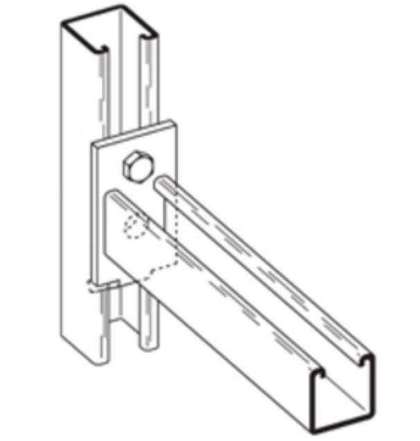 B293-12 Channel bracket zn