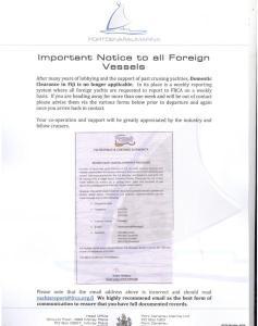 Fiji Domestic Clearance update