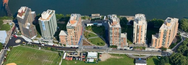 Aerial View Of Southtown Riverwalk Roosevelt Island Ny