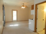 Family room with door to patio