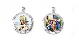 colgante doble moneda 33mm familia y virgen del carmen - copia