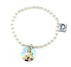 perlas colgante virgen del carmen