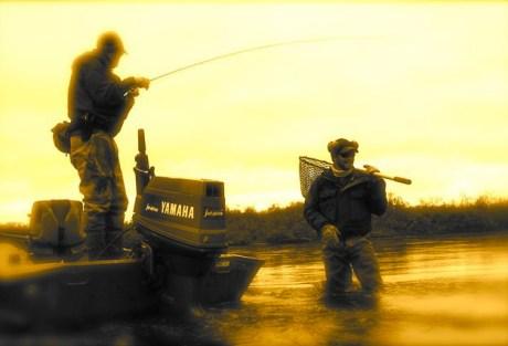 Jason and Garrett bring one in.  Photo: Tom Larimer