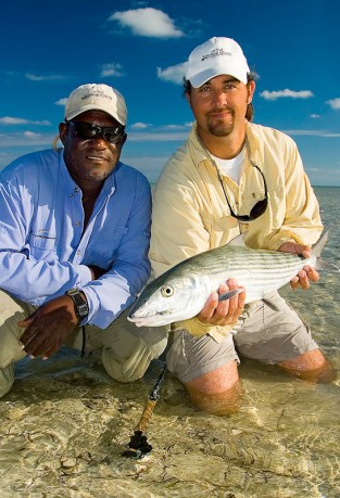 Clockwise from left: Josie, angler, bonefish. Photo: rustychinnisimages.com