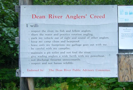 Pretty good rules on any river, wouldn't you say?