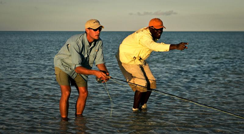 Wading for Bonefish