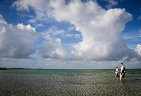 Wading on Andros