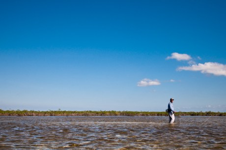 Wading for Bonefish on Andros by Louis Cahill Photography