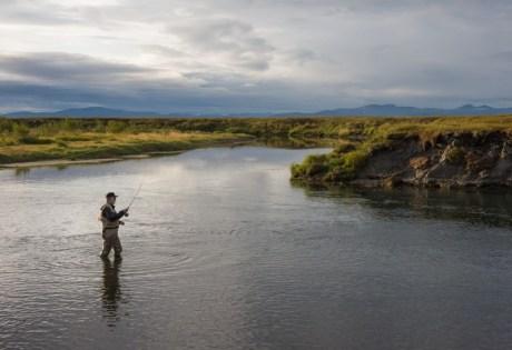 Wading in Alaska