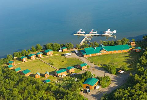 Rapids Camp Aerial Shot