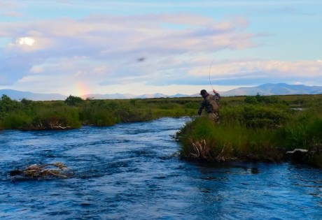 Fly fishing at Alaska West