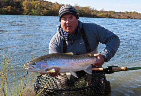 Bryan Burke with Naknek Rainbow Trout