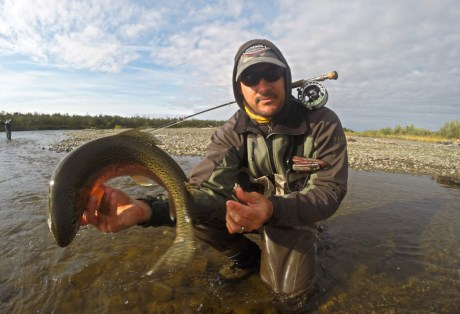 Kevin Riley with Trout at Alaska West