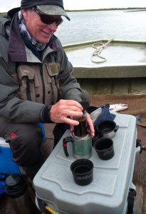 Jim Palmersheim brewing coffee at Alaska West