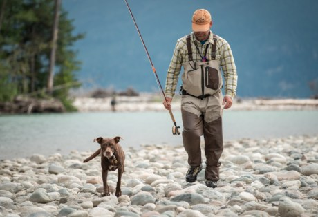 Angler and Dog