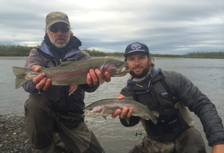 Double Rainbow Trout at Alaska West