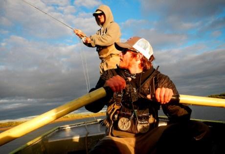 Rowing a Jet Boat at Alaska West