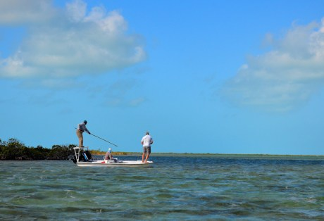 Poling for bonefish at Andros South