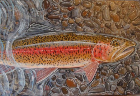 Rainbow Trout Painting by Ben West