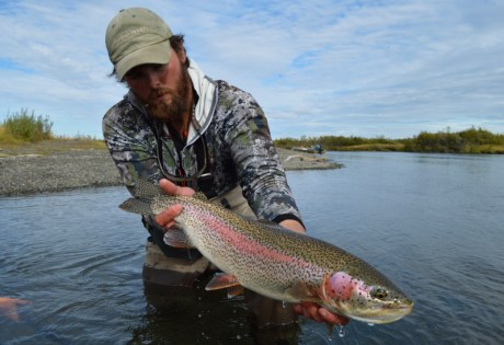 Fly Fishing for Trout at Alaska West
