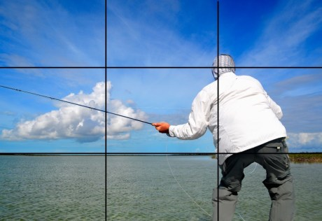 Fly fishing photograhy - rule of thirds