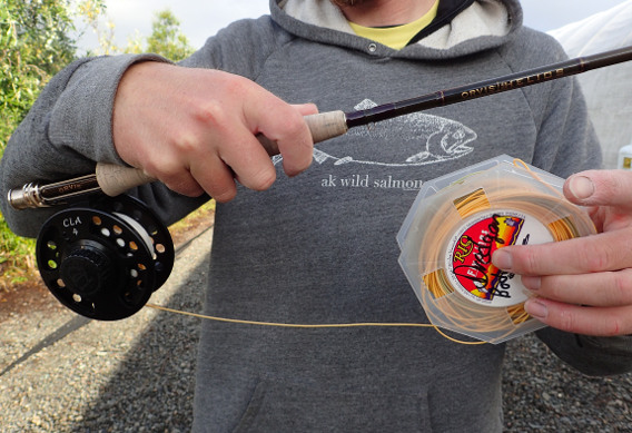Spooling fly lines correctly