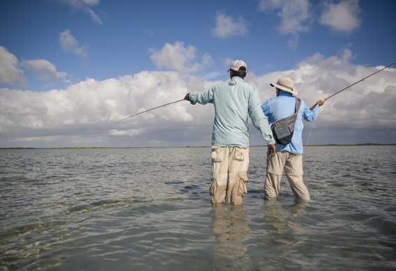 Wading for bonefish by Hollis Bennett.