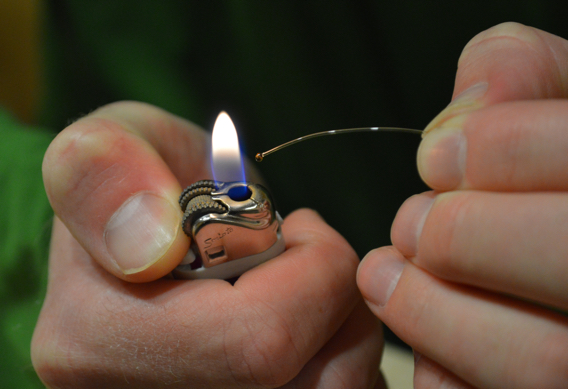 How to make mono eyes for fly tying