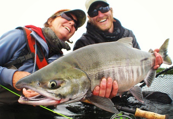 Swinging for Chum Salmon at Alaska West by Bruce Chard.