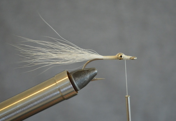 How to tie the Orange Crush Clouser bonefish fly.