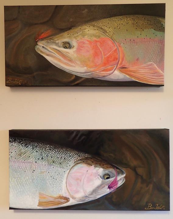 Ben West Steelhead Paintings.