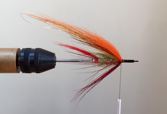 How to tie a Kicking Templedog Tube Fly for Salmon and Steelhead.