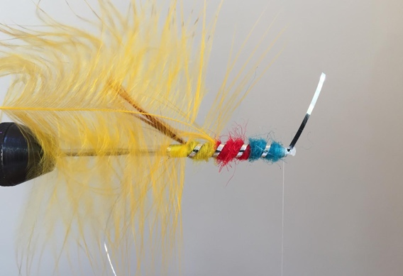 Tying Dee Style flies on tubes. How to tie the yellow eagle tube fly.