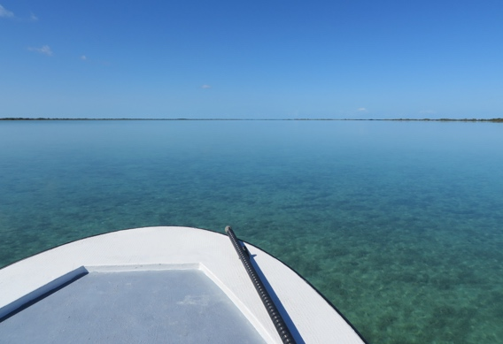 Glassy calm days at Andros South